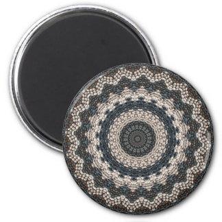Greek Pebble Mosaics Contemporary Fine Art 2 Inch Round Magnet