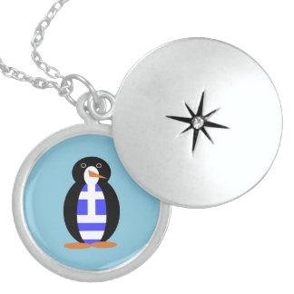 Greek Penguin Locket Necklace