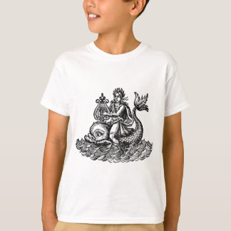 greek poet Arion with harp riding a dolphin T-Shirt