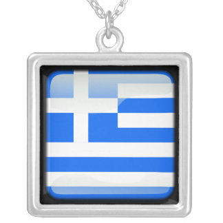 Greek polished silver plated necklace