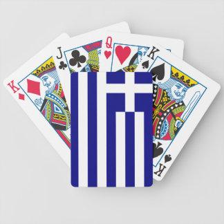 Greek pride bicycle playing cards