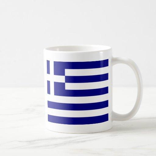 Greek pride classic white coffee mug