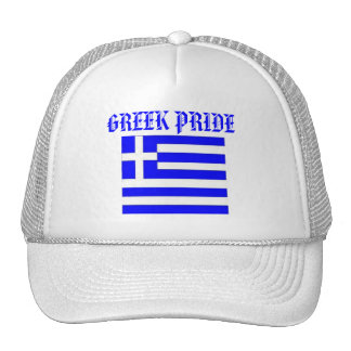 Greek Pride hat with the flag of GREECE.