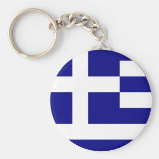 Greek pride keychain