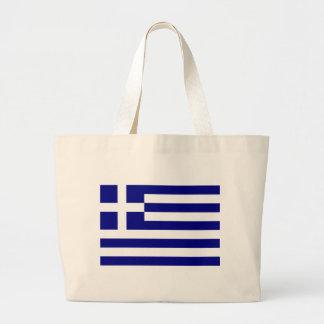 Greek pride large tote bag