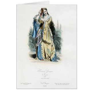 Greek Princess Traditional Costume Greeting Card