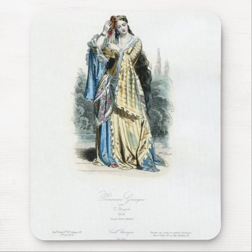 Greek Princess Traditional Costume Mouse Pad