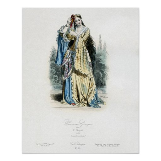 Greek Princess Traditional Costume Posters