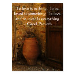 Greek Proverb about love Postcards
