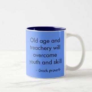Greek Proverb Two-Tone Coffee Mug