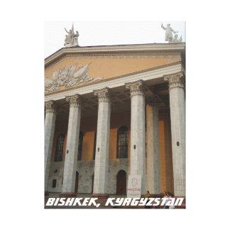 Greek revival National Theater, Bishkek Frunze Canvas Print