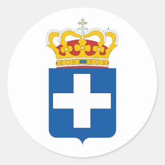 Greek Royal Arms, Greece Classic Round Sticker