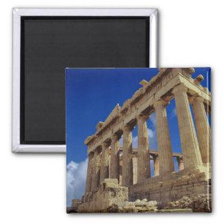 Greek ruins, Acropolis, Greece 2 Inch Square Magnet