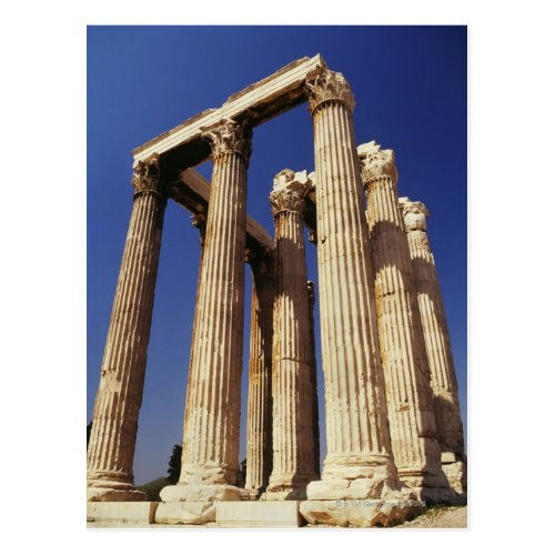 Greek ruins Athens Greece Postcard