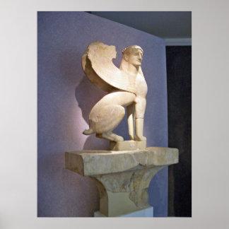 Greek Sacred Gate Marble Sphinx poster