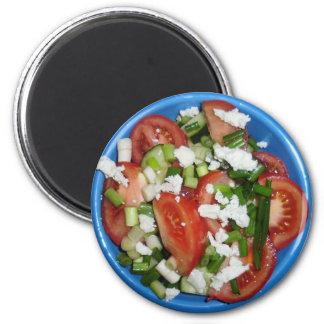 Greek Salad 2 Inch Round Magnet