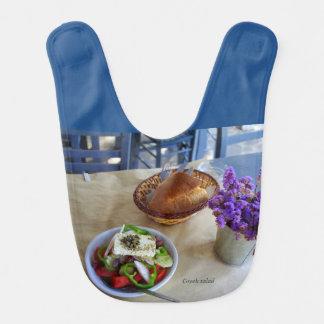 Greek salad baby bib