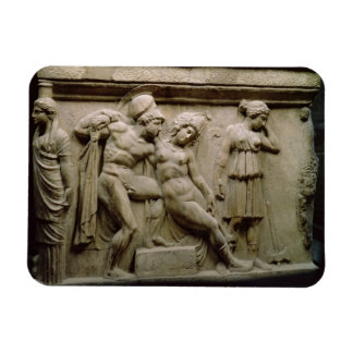 Greek Sarcophagus with a Scene showing the Battle Magnet