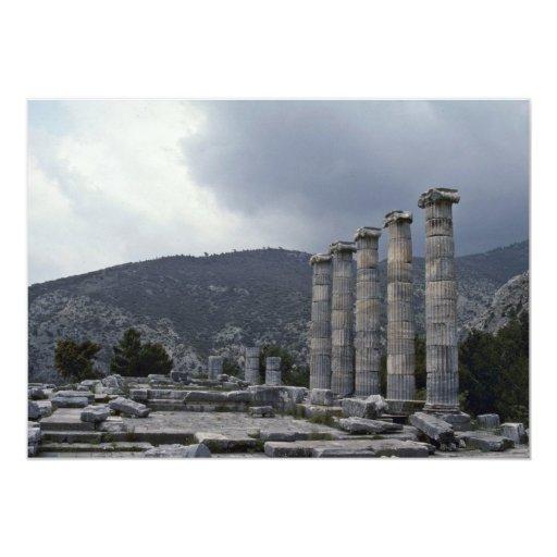 Greek Sculptures 5x7 Paper Invitation Card
