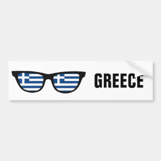 Greek Shades custom text & color bumpersticker Bumper Sticker