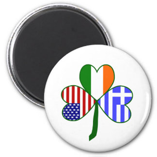 Greek Shamrock Magnet