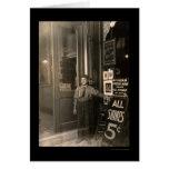 Greek Shoe Shine Boy 1908 Card