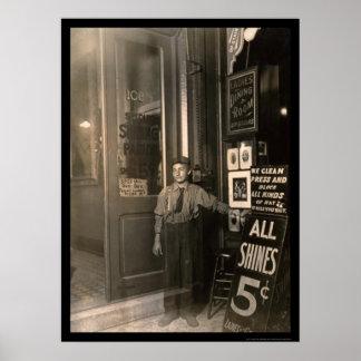 Greek Shoe Shine Boy 1908 Poster