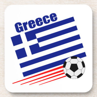 Greek Soccer Team Beverage Coaster