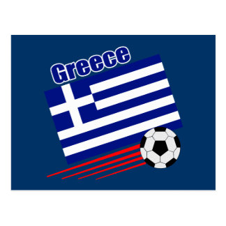 Greek Soccer Team Postcard