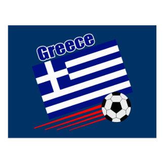 Greek Soccer Team Postcard