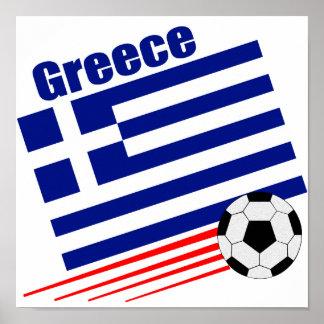 Greek Soccer Team Poster