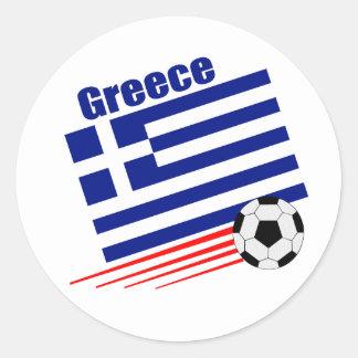 Greek Soccer Team Classic Round Sticker