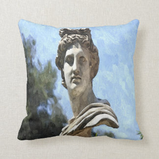 Greek Statue Throw Pillow