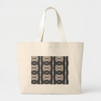 Greek stone black and white mosaic RHODES Canvas Bag