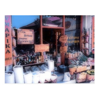 Greek Store Postcard