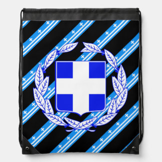 Greek stripes flag drawstring bag
