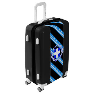Greek stripes flag luggage