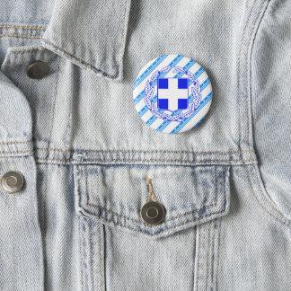 Greek stripes flag pinback button