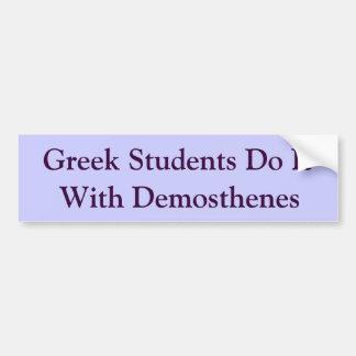 Greek Students and Demosthenes Car Bumper Sticker