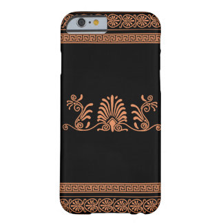 Greek Style Black and Orange Floral Design Barely There iPhone 6 Case