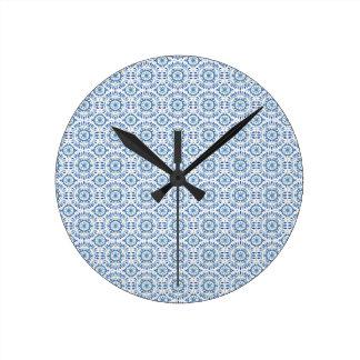 Greek Summer Sea Round Wall Clock