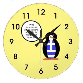 Greek Talking Penguin Flag