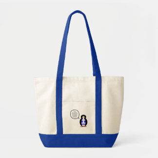 Greek Talking Penguin Flag Tote Bag