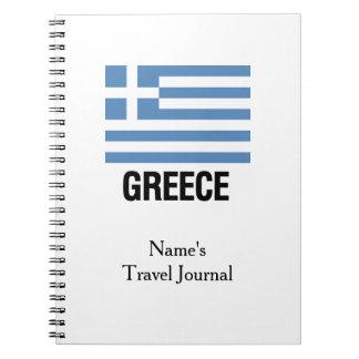 GREEK TEMPLATE SPIRAL NOTEBOOK