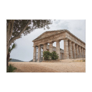 Greek temple at Segesta, Sicily Canvas Print