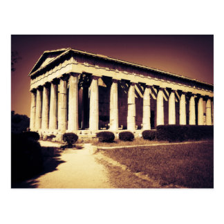 Greek temple in Athens Postcard