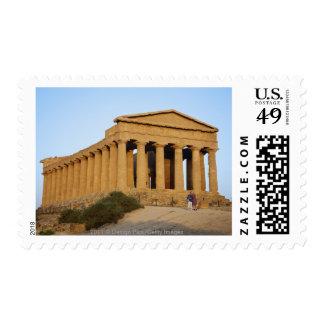 Greek Temple Postage Stamp
