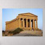 Greek Temple Poster