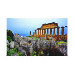 Greek Temple Stretched Canvas Prints
