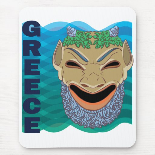 Greek theatre MASK Mouse Mat